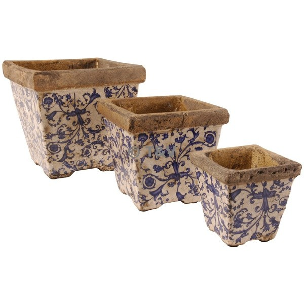 Esschert Design Flower pot set of 3 (AC01 - 8714982022425) | Trends & Vision