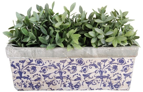 Esschert Design Balcony planter Aged Ceramic (AC29 - 8714982029349) | Trends & Vision