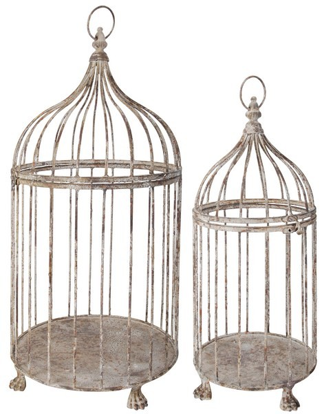 Esschert Design Aged  Metal Birdcage set of 2 (AM04 - 8714982040665) | Trends & Vision