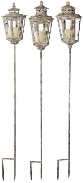 Esschert Design Aged Metal Lantern on stick 3 assorted (AM15 - 8714982040832) | Trends & Vision