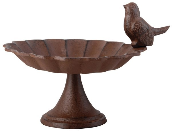 Esschert Design Cast iron birdbath on pole small (FB164 - 8714982042126) | Trends & Vision
