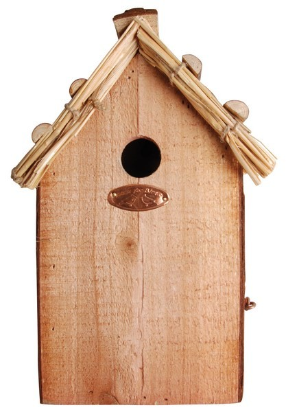 Esschert Design Thatched roof blue tit nesting box                                              (NK08 - 8714982013065) | Trends & Vision