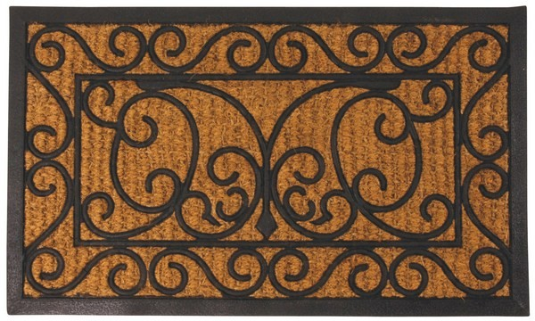 Esschert Design Rubber doormat with cocos rect.                                                 (RB08 - 8714982010880) | Trends & Vision