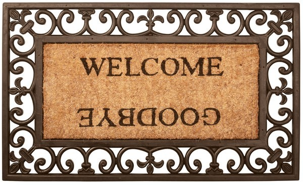 Esschert Design Rubber doormat Welcome/Goodbye rectangular (RB12 - 8714982017056) | Trends & Vision