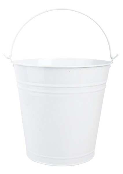 Esschert Design Bucket white (RF62 - 8714982049798) | Trends & Vision