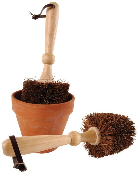 Esschert Design Flower pot brush, 9 cm diam (TG114 - 8714982021923) | Trends & Vision