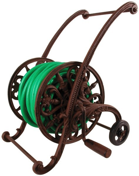 Esschert Design Cast iron garden hose cart (TG67 - 8714982017315) | Trends & Vision