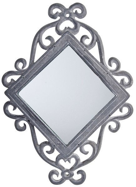 Esschert Design Diamond Mirror cast iron lead finish (TT66 - 8714982041402) | Trends & Vision