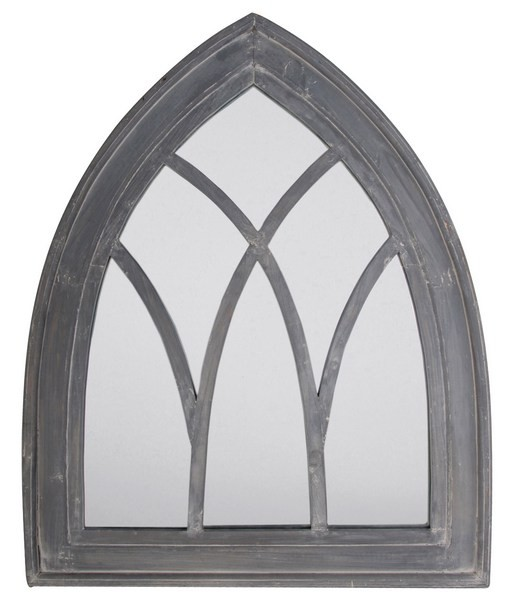 Esschert Design Mirror Gothic grey wash (WD11 - 8714982040320) | Trends & Vision