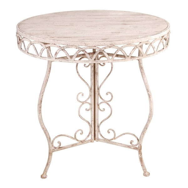 Esschert Design Aged Metal table round with wood (AM52 - 8714982076305) | Trends & Vision