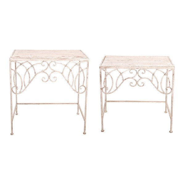 Esschert Design Aged Metal side tables set of two (AM59 - 8714982076374) | Trends & Vision