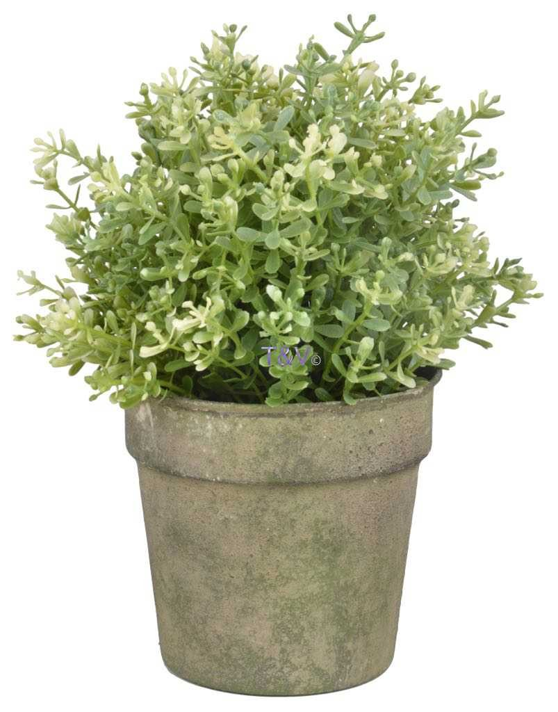 Esschert Design Aged Metal Green bloempot (AM92 - 87149821161551) | Trends & Vision