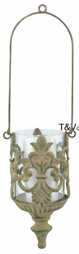 Esschert Design Aged Metal Green hanging lantern (AM94 - 8714982130045) | Trends & Vision