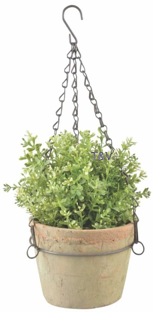 Esschert Design Aged Terracotta pot hanging L (AT28 - 8714982129728) | Trends & Vision