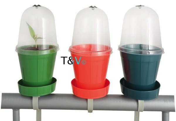 Esschert Design Balcony flowerpot with cloche ass. (BL085 - 8714982096044) | Trends & Vision