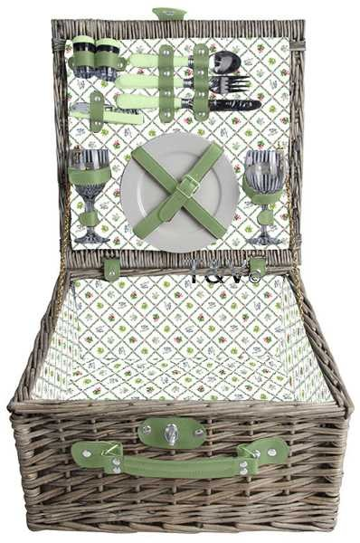 Esschert Design Botanicae picnic basket 2 persons (BT050 - 8714982085925) | Trends & Vision