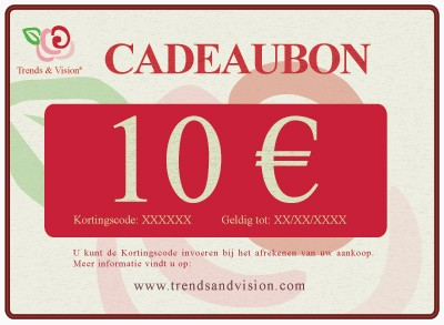 Trends & Vision Gift Voucher 10 euro (Giftvoucher 10 euro - 10) | Trends & Vision