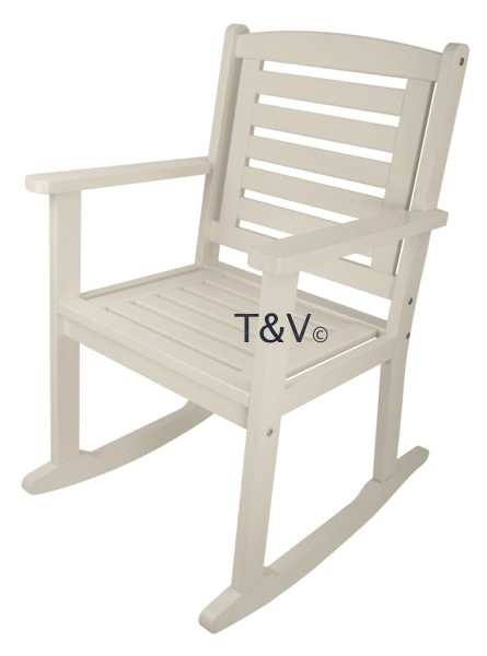 Esschert Design Rocking chair white (CF43W - 8714982080951) | Trends & Vision