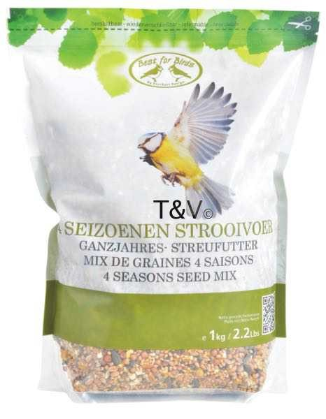 Esschert Design 4 seasons bird food seed mix 1 kg (FB809 - 8714982093265) | Trends & Vision