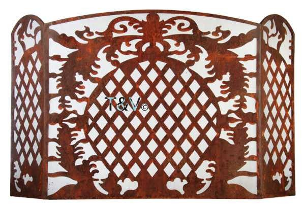 Esschert Design French Lilly Fire place screen Large (FF150 - 8714982085147) | Trends & Vision