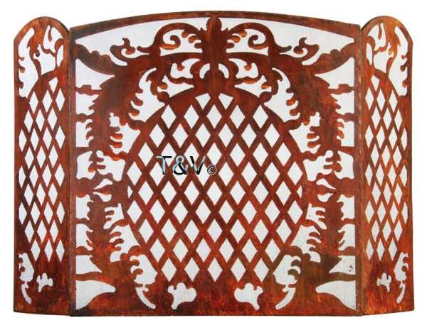Esschert Design French Lilly Fire place screen Small (FF164 - 8714982087622) | Trends & Vision