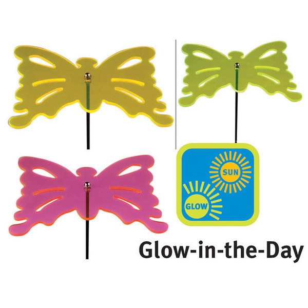 Esschert Design Glow in the day butterfly choose your color(s). (GL13 - 8714982076435) | Trends & Vision