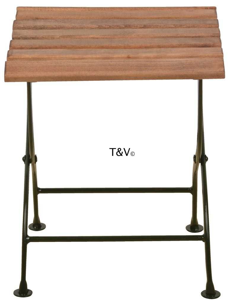 Esschert Design Foldable sidetable wood/metal/green (MF005G - 8714982116582) | Trends & Vision