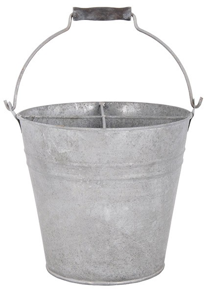Esschert Design Bucket with 4 compartments - Old zinc (OZ26 - 8714982066399) | Trends & Vision