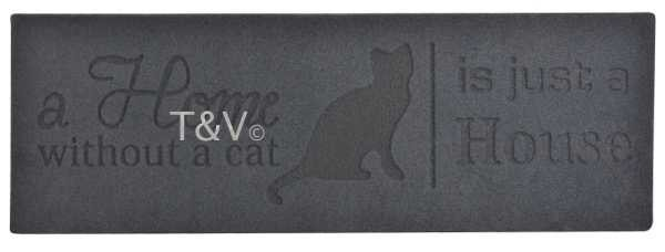 "Esschert Design ""Home without cat"" relief doormat (RB173 - 8714982107405) 