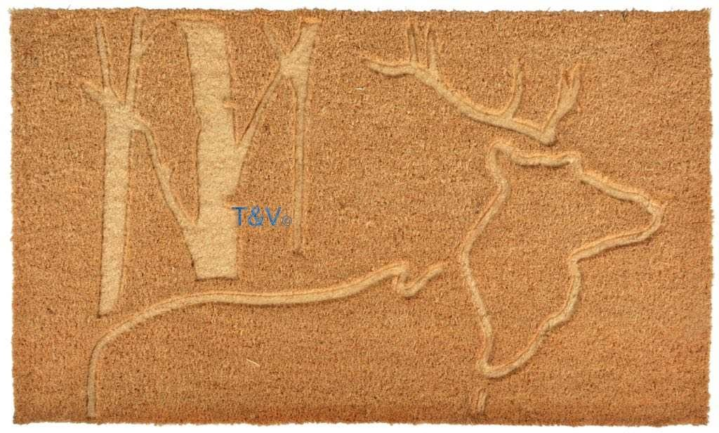 Esschert Design Doormat coir relief deer (RB198 - 8714982135040) | Trends & Vision