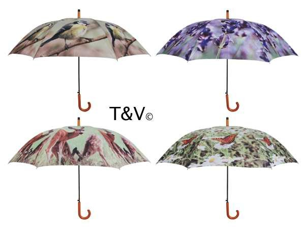 Esschert Design Umbrella nature print I (TP135 - 8714982087707) | Trends & Vision