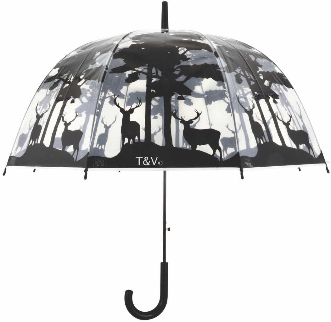 Esschert Design Umbrella transparent forest (TP233 - 8714982129933) | Trends & Vision