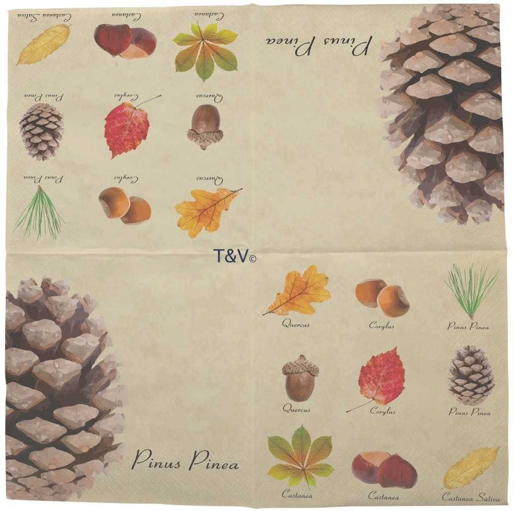 Esschert Design Paper napkins collectibles trees (TP297 - 8714982149344) | Trends & Vision
