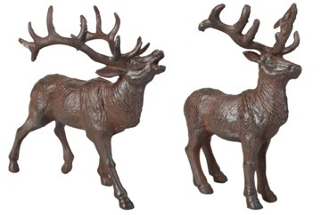 Esschert Design Cast iron Deers set of 2 (TT190 - 8714982092920) | Trends & Vision