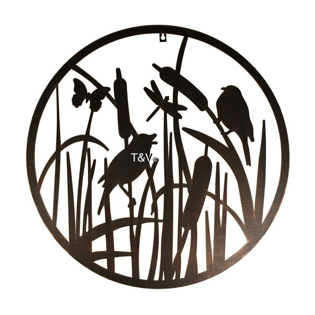 Esschert Design Wall art round birds (TT216 - 8714982159688) | Trends & Vision