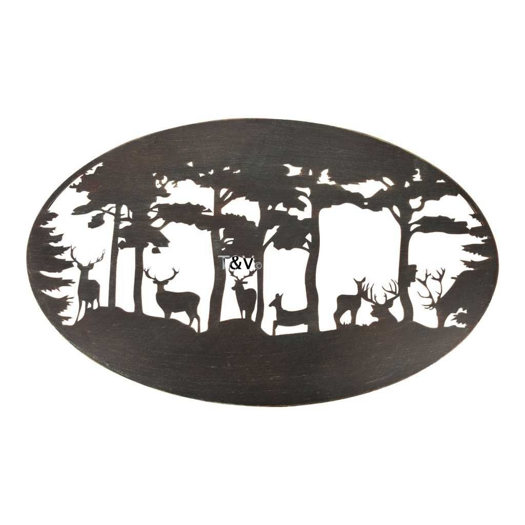 Esschert Design Wall art oval deer (TT217 - 8714982159695) | Trends & Vision