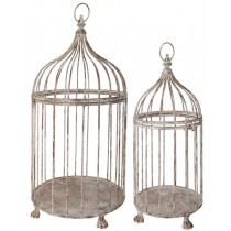 Esschert Design Aged  Metal Birdcage set of 2 | Trends & Vision