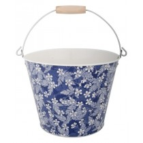 Esschert Design Printed metal bucket small Blue Blossom 4.5 L | Trends & Vision