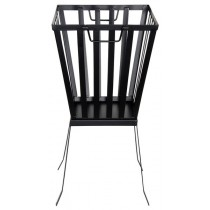 Esschert Design Black metal square fire basket | Trends & Vision