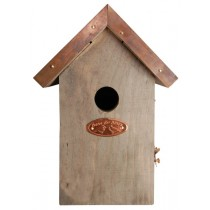 Esschert Design Antique wash bird house wren copper roof                                        | Trends & Vision