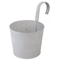 Esschert Design Flower pot with hook old zinc | Trends & Vision