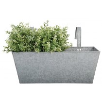 Esschert Design Rectangular balcony flower pot old zinc | Trends & Vision