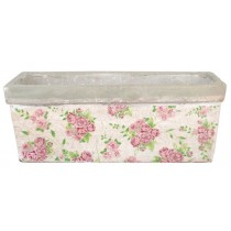 Esschert Design Rectangular balcony planter rose print | Trends & Vision