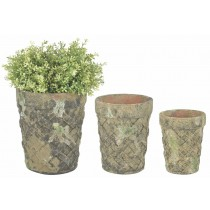 Esschert Design AC flower pot set of 3 moss | Trends & Vision