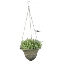 Esschert Design Aged Metal Green hanging basket S | Trends & Vision