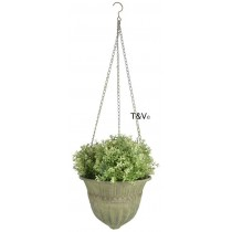 Esschert Design Aged Metal Green hanging basket L | Trends & Vision