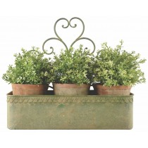 Esschert Design Aged Metal Green wall planter L | Trends & Vision