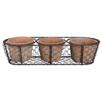 Esschert Design 3 Pots in wire basket | Trends & Vision