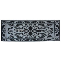 Esschert Design Balcony carpet 70 x 200 cm black/white | Trends & Vision
