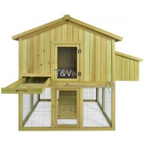 Esschert Design Henhouse with poultry run for 3 | Trends & Vision